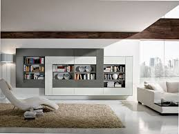 White Library Bookcase by Wall Units Astounding Decorative Wall Units Surprising