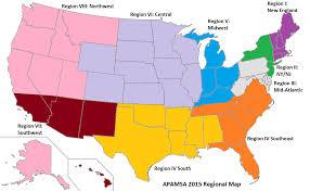 Us Region Map American Volkssport Association Organized Crime Drug Enforcement