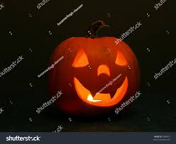 Halloween Pumpkin Lantern - happy halloween pumpkin lantern candle stock photo 5948875