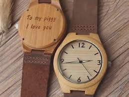 wooden groomsmen gifts custom engraved mens womens wood wooden bamboo watches