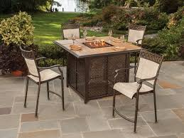 Bar Height Patio Dining Set by Others Costco Bar Height Fire Table Costco Fire Table Costco