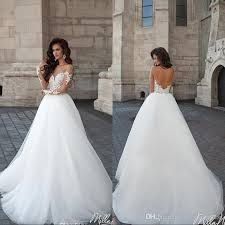 inexpensive wedding dresses 2017 milla vintage backless wedding dresses sheer crew