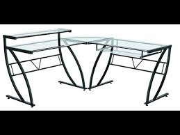 Glass L Shaped Computer Desk by Modern Computer Desk Z Line Belaire Glass L Shaped Computer Desk