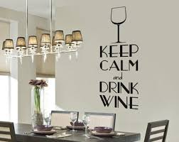 Wine Glass Wall Decor Wine Wall Decal Etsy