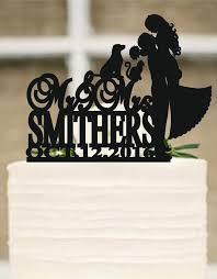 wedding cake topper with dog wedding cake topper silhouette dog and cat cake topper