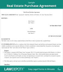 real estate purchase agreement template world of letter u0026 format