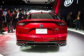 autos designen the kia stinger is a sports sedan that sizzles in a sea of