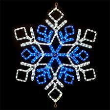 cool white and blue led snowflake lighted motif 31 inches x 31