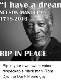 Dream On Meme - i have a dream nelson mandela 1718 2013 rip in peace rip in your
