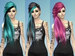sims 4 blue hair sims 4 hairstyles emo
