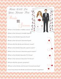 couples shower bridal shower how well do you the and groom new