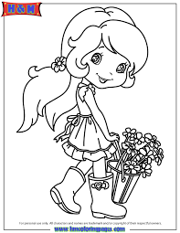 strawberry shortcake rain boots flower bucket coloring