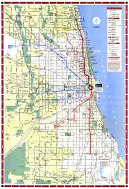 chicago map streets 1995 cta map maps chicago