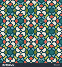 abstract geometric seamless pattern midcentury modern stock
