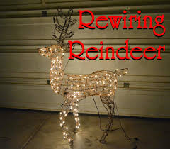 Lighted Sleigh And Reindeer by Rewiring Reindeer And Decorating In The Desert U2014 Az Diy Guy