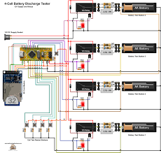 battery discharge tester 12v version circuit diagram wiring