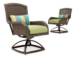 Patio Swivel Rocker Chair by Sawyer Patio Swivel Rocker Set 2 Swivel Rockers And Side Table