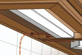 under cabinet lighting wiring code kitchen installing builder