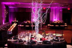 encore centerpieces silver tree branches with dangling crystals