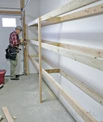 Diy Garage Storage Cabinets Building Shelves Garage Basement Storage Build Floating Diy Wall