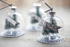 diy snow globe ornament and place cards little rusted ladle