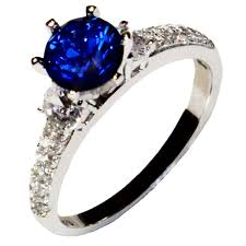 zirconia stone rings images Solitaire sapphire promise ring blue cubic zirconia beautiful jpg