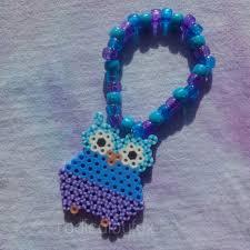 mint mermaid mermaid rave custom mermaid mint custom edc owl kandi bracelet rave single edm perler bead
