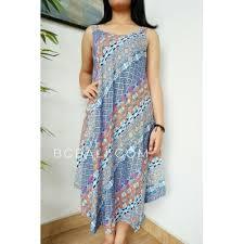 fashion clothes balinese long dress women hand printing rayon