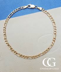 gold fine bracelet images 9ct yellow gold figaro bracelet 7 39 39 chains of gold jpg