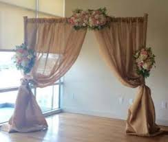 pipe and drape backdrop 4 panel pipe drape 14ft burlap linens and events