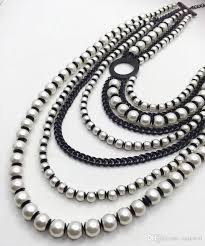 multi layered black necklace images 2018 multi layered faux pearl necklace exaggerated multi strands jpg