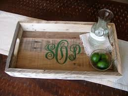 monogrammed serving platter 26 best tray images on trays pallet wood and serving