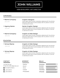 free minimalist resume designs and white cv