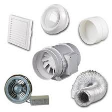 high power inline loft mounted bathroom shower extractor fan kit