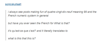 Meme Meaning French - and this literal translation of a simple question speak french