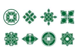 free green celtic ornament vector free vector