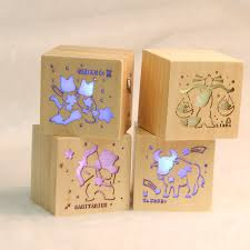 12 constellations creative gift music box colorful led lights