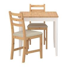 2 chair kitchen table set lerhamn table and 2 chairs light antique stain vittaryd beige