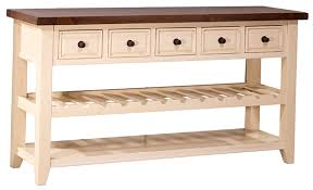 Hallway Table With Drawers Tuscan Retreat Wine Rack Hall Table With 5 Drawers Country