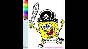 spongebob coloring book game spongebob pirate nick jr coloring