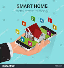 Home Design 3d Tablet Smart Home Iot Internet Things Control Stock Vector 505528408