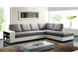 canapé angle droit convertible canape gris et noir canapac dangle en tissu et simili randy blanc et