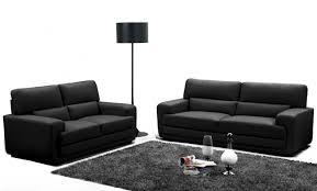 canapé cuir noir 3 places canape 2 et 3 places cuir maison design wiblia com