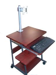 Portable Laptop Desk On Wheels by Sts5806 24