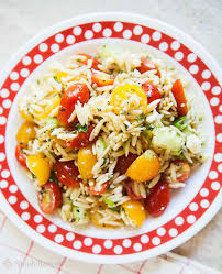 cherry tomato orzo salad recipe simplyrecipes com