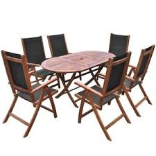 Patio Table And 6 Chairs 7 Pc Outdoor Dining Set Garden Patio 1 Table 6 Chairs Deck Pool