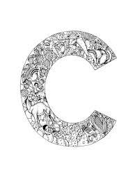 free coloring pages alphabet letters 100 best alphabet coloring images on pinterest mandalas