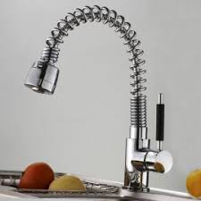 pull out spray kitchen faucet brushed nickel
