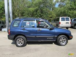 chevy tracker dark blue metallic 2000 chevrolet tracker 4wd hard top exterior