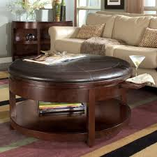 Leather Top Ottoman Sofa Leather Coffee Table With Storage Ottoman Cocktail Table
